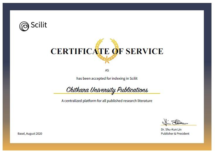 Scilit Certificate